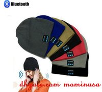 Wholesale Beach Hats Bags - Adult Bluetooth Music Beanie Hat Wireless Smart Cap Headset Headphone Speaker Microphone Handsfree Music Hat OPP Bag Package 6colors choose