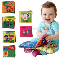 Wholesale Soft Cloth Books For Infants - 6PCS Intelligence Development Soft Fabric Cognize Quiet Book Educational Toy For Baby Infant