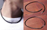 ingrosso braccialetto magnetico nero-Braccialetti con ciondoli di moda Donna Uomo Nero Bianco Intrecciato Polsino Bracciale Braccialetto magnetico Bracciali in pelle Collana Dual-uso Jewellry 3Color