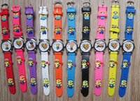 Wholesale Despicable Silicone - 2016 Hot Selling Cheap Silicon Children Kid's Watch,3D Cartoon Despicable me minions Wrist watch Sport Watch 1pcs