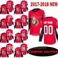 camisetas de hockey madrigueras al por mayor-Aduana 2018 Nuevos Senadores de Ottawa 17 Nate Thompson 30 Andrew Hammond Jersey 7 Kyle Turris 29 Johnny Oduya 14 Alexandre Burrows Hockey Jerseys