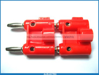 Wholesale banana plug types resale online - 10 Screw Type Dual Banana Plug Speaker Connectors Red Color
