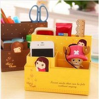 2014 New DIY Papierfaltens Storage Box Organizer Fashion Jewelry Container Schreibtisch Dekor