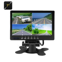 Wholesale Tv Screens For Buses - 7 Inch Car LCD Display 800x480, 4 Camera Input, Split Screen Display PAL+NTSC Rear View Car Monitor Reversing for Car truck bus