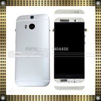 Wholesale Display Touch Digitizer Back Cover - Wholesale-Replacement Full Front LCD Display + Touch Screen Digitizer + Black Frame with Back Cover Housing for HTC One M8 831c (Silver)