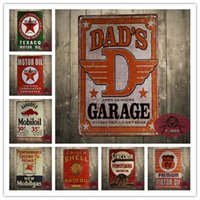 Wholesale Decoration Shop - Free shipping Dad's Garage Tin Sign metal poster fix it repair shop wall decor 8*12inch