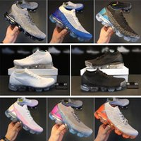 Wholesale Designer R - 2018 Vapormax 2 CS Racer Casual Shoes For Mens Sneakers Womens knitting Fashion designer r white Athletic Casual Shoe Walking Outdoor Shoes