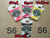 Wholesale Galaxy S3 Gel Cases Cute - 3D STARBUCKS Coffee Ice Cream Cup Soft Silicone gel Case Cute For Samsung Galaxy S3 I9300 S5 SV I9600 S6 G9200 SVI Note 4 Skin Cover luxury