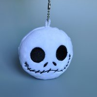 Wholesale Mini Plush Christmas - Free Shipping Nightmare Before Christmas Jack Plush Doll Toys With Keychain Mini Soft Stuffed Dolls 3""