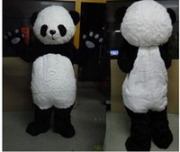 panda fantasia venda por atacado-Frete grátis 2015 Personalizado Linda Panda De Pelúcia Traje Da Mascote Adulto Tamanho Trajes Festival Fancy Dress Outfit Suit Partido Carnaval Traje