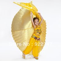Wholesale Accessories Belly - 2015 NEW Cute Kids Angel Isis Wings Professional Belly Dance Costume Accessories For Children Golden Silver