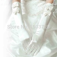 Wholesale Stain Gloves Finger - Free Shipping Newest Style Long laciness dress gloves wedding gloves Stain bridal gloves wedding dress accessories