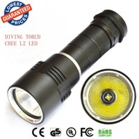 Wholesale Pool Torches - 2015 new DV10 dive light XM-L L2 led diving flashlight underwater 50M torch light