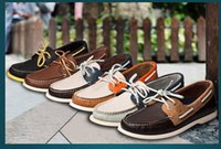 sperry top shoes - Sperry Top Sider Genuine Leather Men Sail Boat Shoes Fashion Casual Patchwork Low cut Lace up Flats