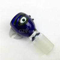 pipes colorées uniques achat en gros de-2015 oiseaux tête bols en verre 18.8mm joint pour bang coloré bangs drôles bols masculins cuvette fumeur unique pour tuyaux d'eau bangs en verre accessoires