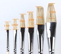 Wholesale Wooden Promotional Pens - Wholesale-2015 promotional aritist oil paint brush wooden paint brush handles 105 aquarela escova de cabelo pinceis de maquiagem