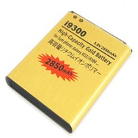 Wholesale Galaxy S3 High Capacity Battery - Best Selling Replacement Gold battery For Samsung Galaxy S3 SIII I9300 High Capacity Gold 2850mAh 15 country Epacket 5pcs lot