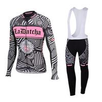 Wholesale Saxo Bank Women - Tinkoff saxo bank 2016 pink long sleeve bib kits cycling jerseys sport wear cycling clothes pink mtb bike bicycle clothing women cycling set