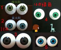 Wholesale Plastic Eyeballs Wholesale - 20pcs=10pair DIY 34mm 16# big round shape acrylic BJD doll eyeballs beads Acrylic eyes for the dolls 20pcs lot
