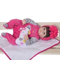 18 inç kız bebek toptan satış-Satış Lifelike Baby Alive Bebekler Çocuklar Playmate Aksesuarlar için 18 İnç Yumuşak Silikon Reborn Bebekler Gerçekçi Yenidoğan Bebek Kız
