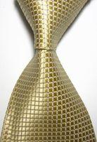 Wholesale Men S Ties Formal Necktie - wholesale 10pcs gravata slim men neck tie sets 6cm Skinny Tie Light Golden Checked JACQUARD WOVEN Neckties business formal men tie plaid