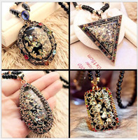 Wholesale Gold Plate Chain Necklace Discount - New Colorful Shell Sweater Chain Long Necklaces Mix Discount Bohemian Pendants Jewelry Fashion Hot ethnic style Necklaces DHL free