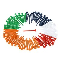 Wholesale Wooden Golf Tees Wholesale - 100Pcs Set 69mm Mixed Color Wooden Golf Tees High Quality Golf Wood Tees Golf Accessory