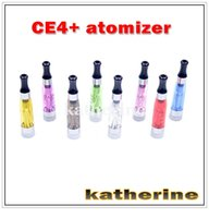 Wholesale Ego T Mouth - CE4+ Atomizer CE4 plus Clear Atomize Electronic Cigarettes Round Mouth Atomizer for ego EGO-T series E-cigarette, DHL