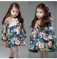 Wholesale Breaks Pads - The winter of 2015 han edition girls more children in winter jacket long broken flower girl cotton-padded jacket tide BH1280