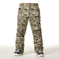 Wholesale-Gsou Snow Ski Pants Men Winter Snowboard Pants Waterproof Respirável Camouflage Ski Trousers Espessura Warm Windproof Ski Clothes