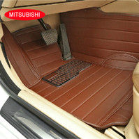 Wholesale Car floor mats for Mitsubishi Lancer EX ASK Outlander Car carpets Waterproof D Allrounded Leather Anti slip accessories Car foot mats