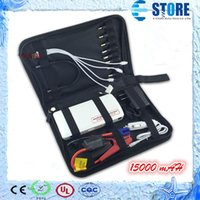 Wholesale Car Battery Chargers Starter - Mini Power Bank with LED Light 12V,Hot Sale 15000mAh Portable Jump Starter Car Battery Charger,Free shipping,A