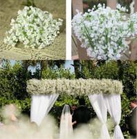 Wholesale Best Artificial Plants - Best Flowers Floral Décor White Gypsophila Artificial Fake Silk Flower Plant Festive Party Wedding Home Decor Supplies Decorative Flowers