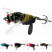 Wholesale Saltwater Soft - New Promotions 1 Pcs 4-Color Cicada Baits Fishing Lures Bass Crank baits 4cm 6.4g Float Baits