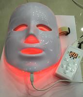 rote lichttherapiegeräte großhandel-7 farben photon PDT led hautpflege gesichtsmaske blau grün rot lichttherapie schönheit geräte