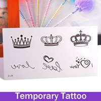 Bellezza rimovibile impermeabile tatuaggio provvisorio Body Art Sticker creativo Love Love Corona Tatoo