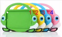 Wholesale Ipad Mini Carry Cases - Cartoon car Tote Children Silicone case with handle Tablet Carry Bag Shockproof Kids cute Smart Cover Case for iPad mini mini2 mini3