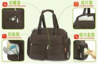 Bag Fisher-Price Selezione diretta Deluxe Messenger Diaper Bag Nappy Brown sacchetto di nylon Tote bag verde cartone animato
