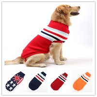 Hiver Chien Pull Coloré Pet Chien Pull Manteaux Casual Couleur Pull Simple Anglais Motif 5 Styles CYF59