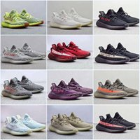 2018 SPLY Boost 350 V2 Frozen Yellow Ultra Boots Bred Creme White Copper Zebra Sports Sneakers Kanye West Cheap Running Shoes