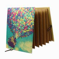 Wholesale Bamboo Albums - Hand Made Hardcover Kraft Paper Folding Photo Album,Pixar Up Movie DIY Photo Album, Anniversary Scrapbook,Wedding Photo Album