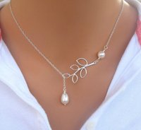 Wholesale Owl Design Necklace - fashion silver plated alloy infinity leaves pearl star owl triangle bowknot pendant necklace 6 design
