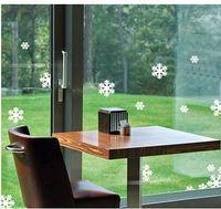 ingrosso decorazioni dell'autoadesivo dell'armadio-10Set Christmas New Year Snowflake Wall Stickers the windows paste cabinet stickers Adesivi per decorazioni natalizie