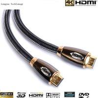 Wholesale 3d Hdtv Led - Wholesale GOLD metal case HDMI 0.5m 1m 1.5m 2m 3m 4m 5m 10m 15m 20m 7.5m 1.4V PREMIUM Cable HDTV 3D 1080P 2160P Lead metre Audio Cable