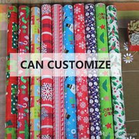 Wholesale Custom Wrapping Paper Wholesale - 762*4270mm Christmas Gift Wrapping Paper Greaseproof Pape Gift Packaging Presnet Wrap DIY, custom made color