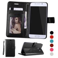 étui portefeuille livre achat en gros de-Pour Samsung Galaxy S7 Edge S8 Plus Note 8 Étui portefeuille Étuis à livres Cadre photo Titulaire de la carte Flip Couverture de téléphone de haute qualité