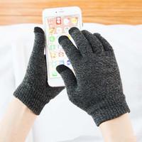 ingrosso indossare guanti di lana spessa-Solid Magic Gloves Donna Uomo Stretch Knit touch screen guanti spessi caldi magici Guanti Mittens Hot Winter Warm Accessories Wool