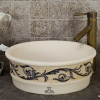 Wholesale European archaize stage basin Circular between wei yu lavatory clean single basin