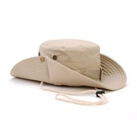 Wholesale Nepal Hats - Wholesale-Ben Nepal cap Pure cotton wide brim Fisherman hat Outdoor sport Topee Camping hiking Photography Mountaineering Bucket Hats