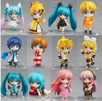 Wholesale Anime Pvc Figure Vocaloid - 12pcs set Vocaloid Hatsune Miku Family Rin Len Ruka Kaito Meiko Anime Figure doll Toys with box
